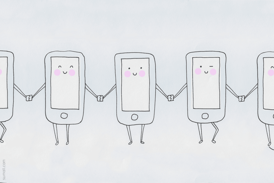 Dancing iPhones.
