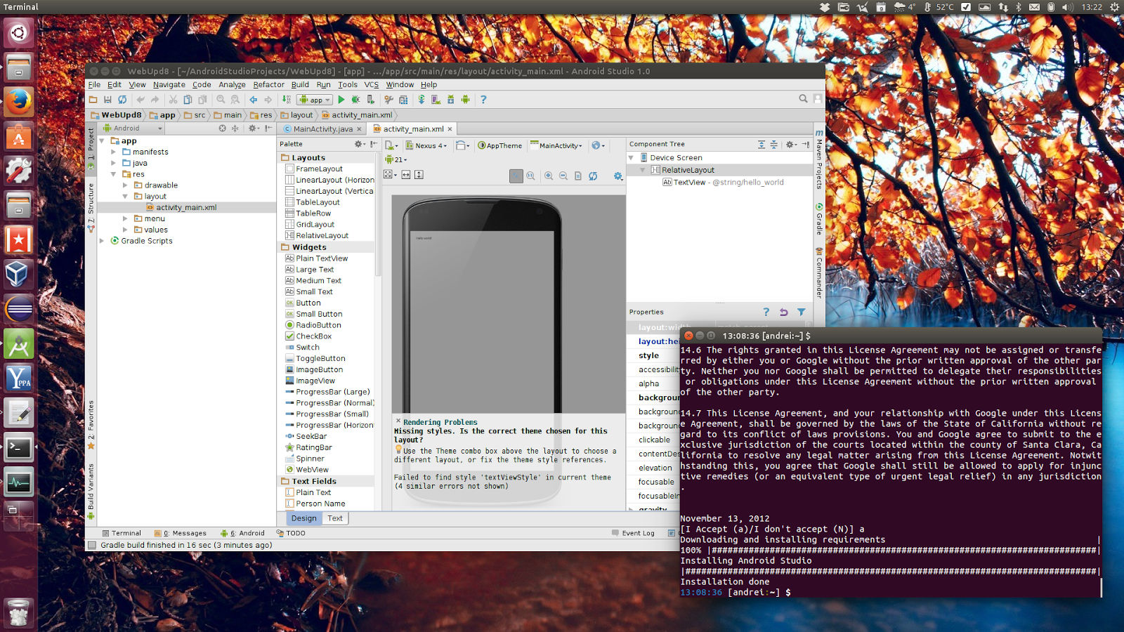 how to run android studio on ubuntu