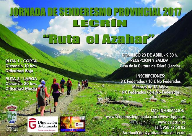 Ruta recomendada: Jornada de Senderismo Provincial 2017. Lecrín. Valle del Azahar