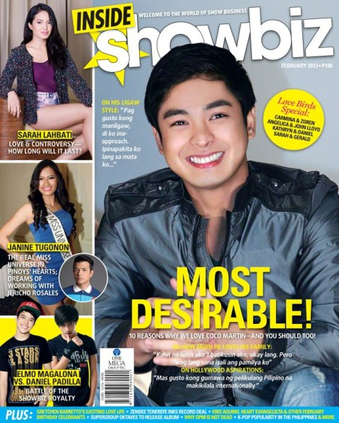 Coco Martin Covers Inside Showbiz Magazine February 2013 Issue