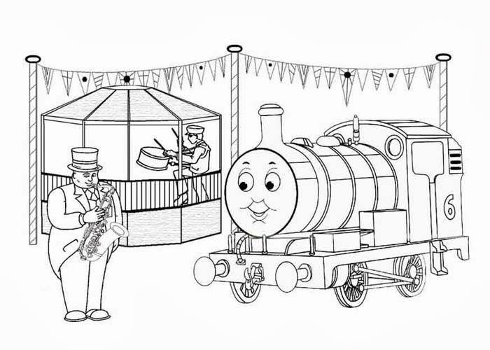 Free coloring pages of emily thomas for Emily the tank engine coloring pages