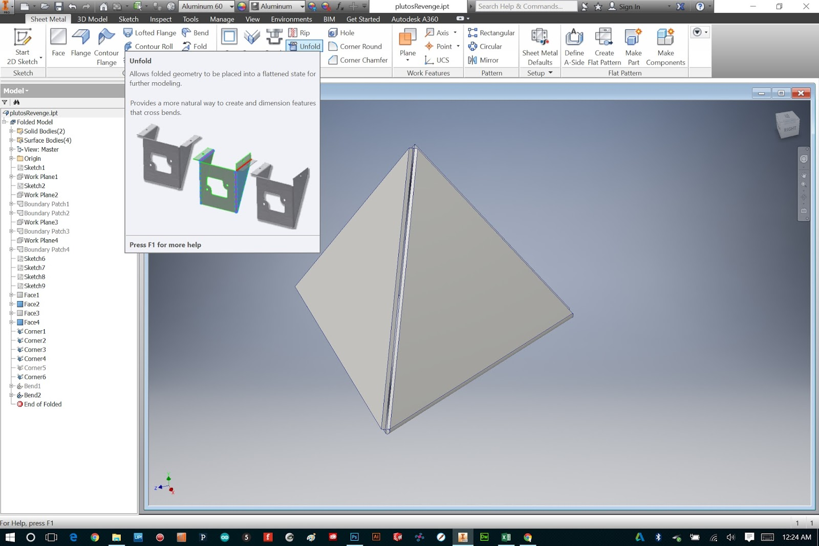Bryan Cera Autodesk Inventor Sheet Metal Tabs And Fasteners