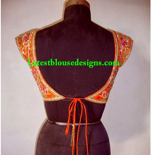 bridal saree blouse designs