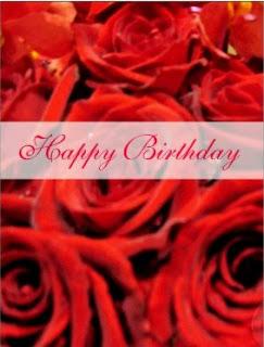 Tarjetas de Cumpleaños con Rosas Rojas, parte 2