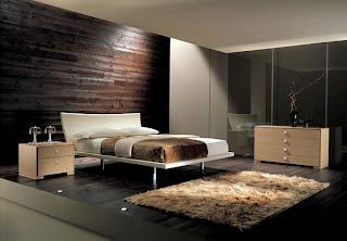 dormitorio con colores oscuros