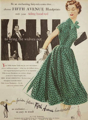 vintage fashion ad, 1950s