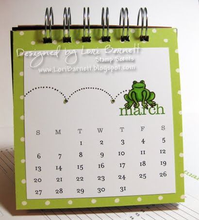 Here's my March 2011 A Muse calendar page. The frog is colored with Copic