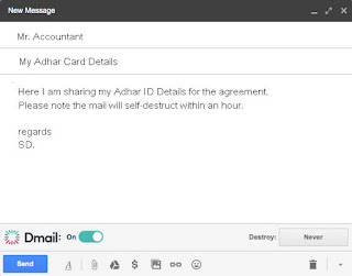 DMail Chrome Plugin to Self Destruct Message