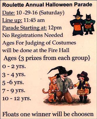 10-29 Halloween Parade In Roulette