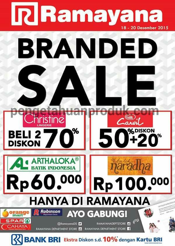 Promo Ramayana Departmen Store Desember 2015