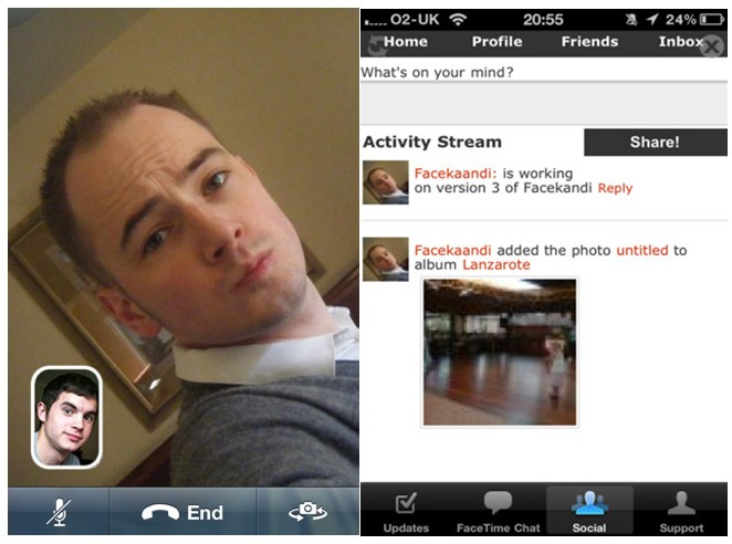 La versione migliorata di Facetime con la possibilità di visualizzare tantissime persone da tutto il mondo come fa la chatroulette