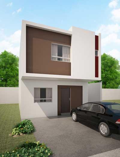 Fachadas de casas modernas fachada de casa moderna modelo for Modelos de casas minimalistas modernas