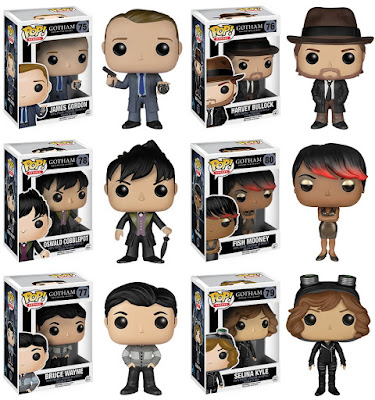 Gotham Pop! Vinyl Figure Series 1 by Funko - James Gordon, Harvey Bullock, Oswald Cobblepot (The Penguin), Fish Mooney, Bruce Wayne & Selina Kyle (Catwoman)