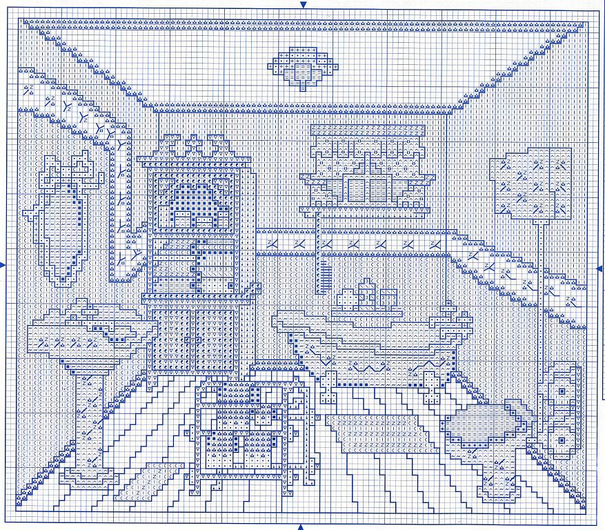 Схемы вышивки: кухня и ванна..