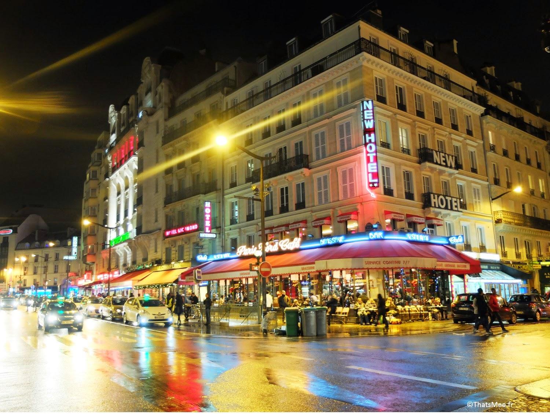 néons Gare du Nord Paris rue de Dunkerque enseignes lumineuses ThatsMee.fr