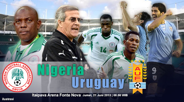 ... Pertandingan Nigeria vs Uruguay Piala Konfederasi, Jum'at 21 Juni 2013