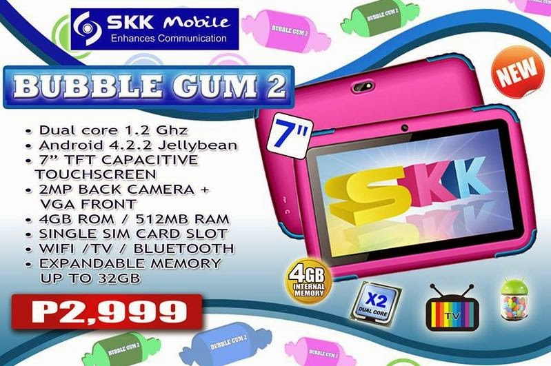 SKK Mobile Bubble Gum 2, Colorful Dual Core Tablet For Php2,999