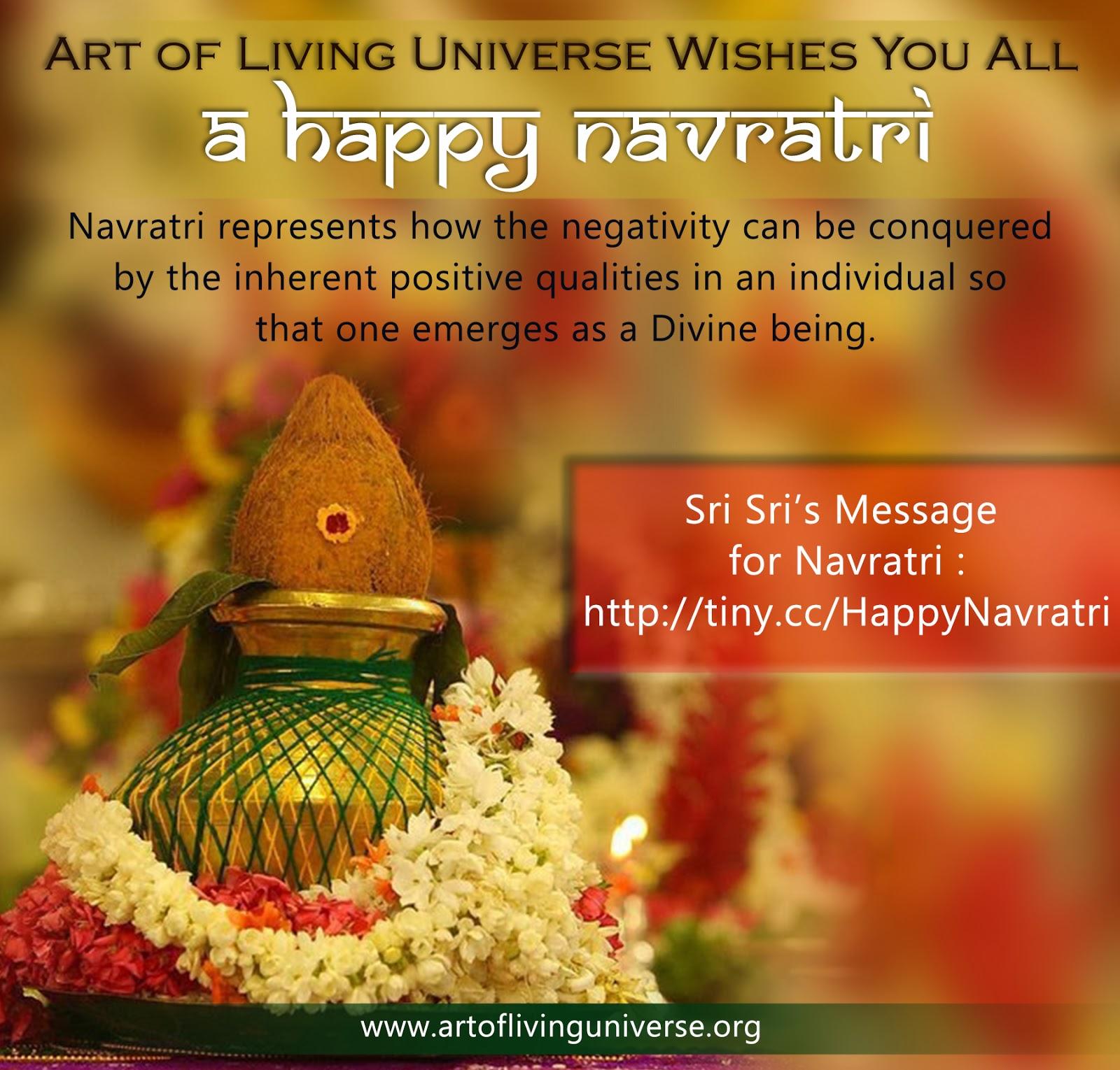 Sri Sri's message for Navratri