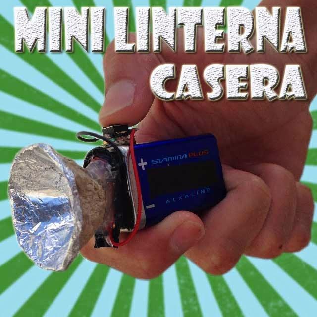 Mini linterna casera electrónica en casa