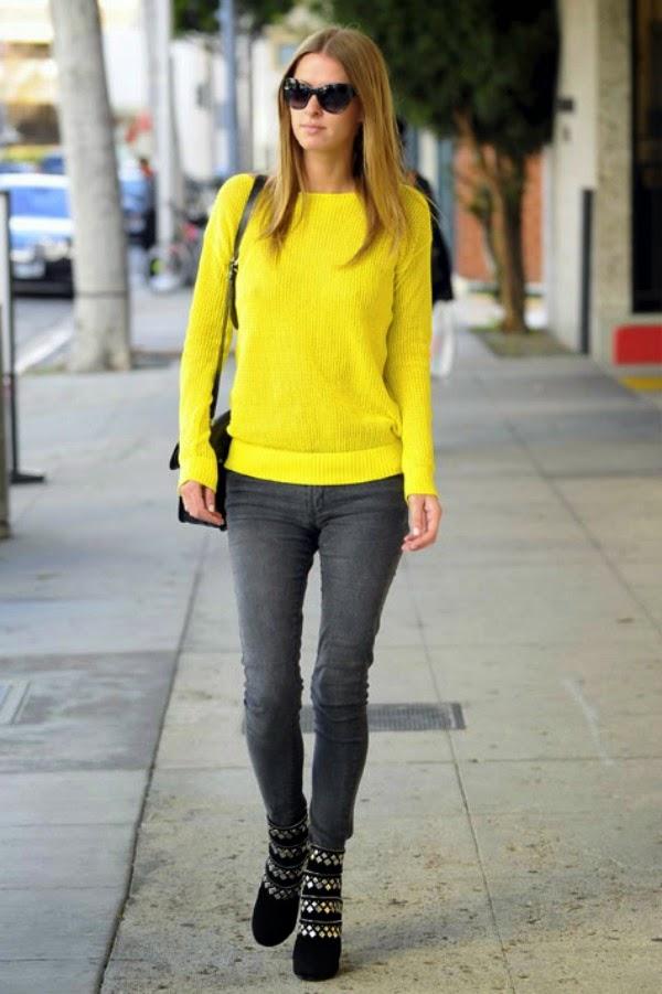 nicky hilton grey jeans