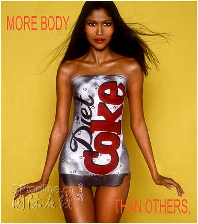 Halloween bodypaint women Costumes coke