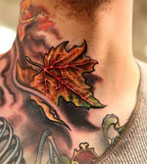 coolest maple leaf tattoo for men