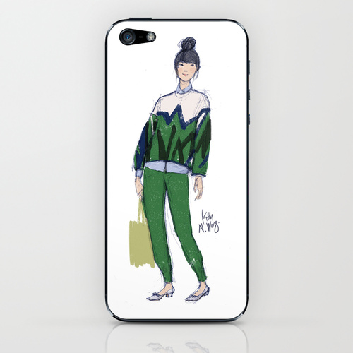 Kitty N. Wong Susie Bubble iphone case