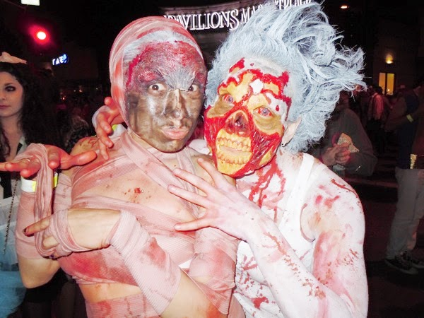 West Hollywood Halloween zombie costumes 2010
