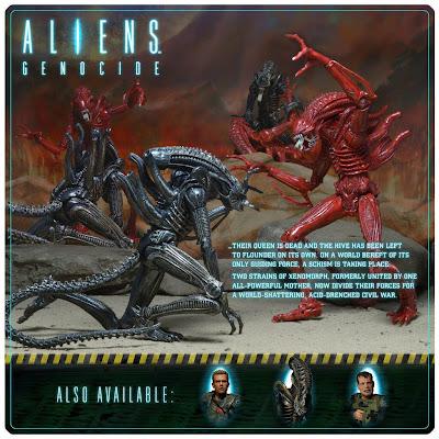 NECA Aliens: Genocide Alien Figure 2-Pack Cardback