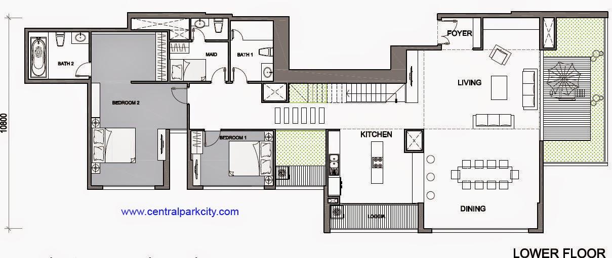 Vinhomes Central Park Penthouse - Căn số 01 tầng 45-46 Lower - 4PN - 411.6m2