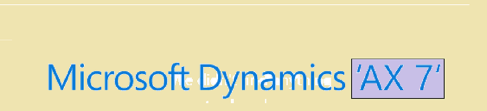 Microsoft Dynamics AX Blog   *Axapta V/s Me*