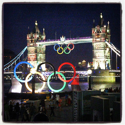 Tower Bridge the night before the London 2012 Opening Ceremony