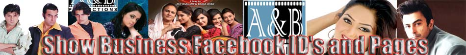 Show Business Facebook ID's and Pages
