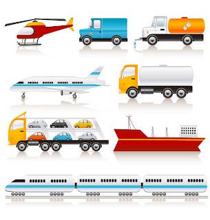 乗り物の車両アイコン Vector Transport Vehicle Icons イラスト素材3