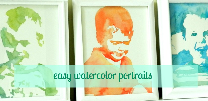 Grow creative blog easy watercolor portrait tutorial for Easy watercolor tutorial