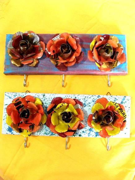 Como fazer flores de latinhas de refrigerante