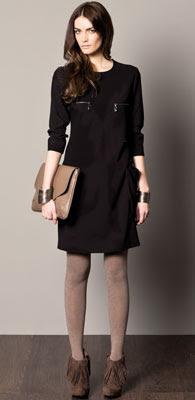 vestido negro Caramelo otoño invierno 2012 2013