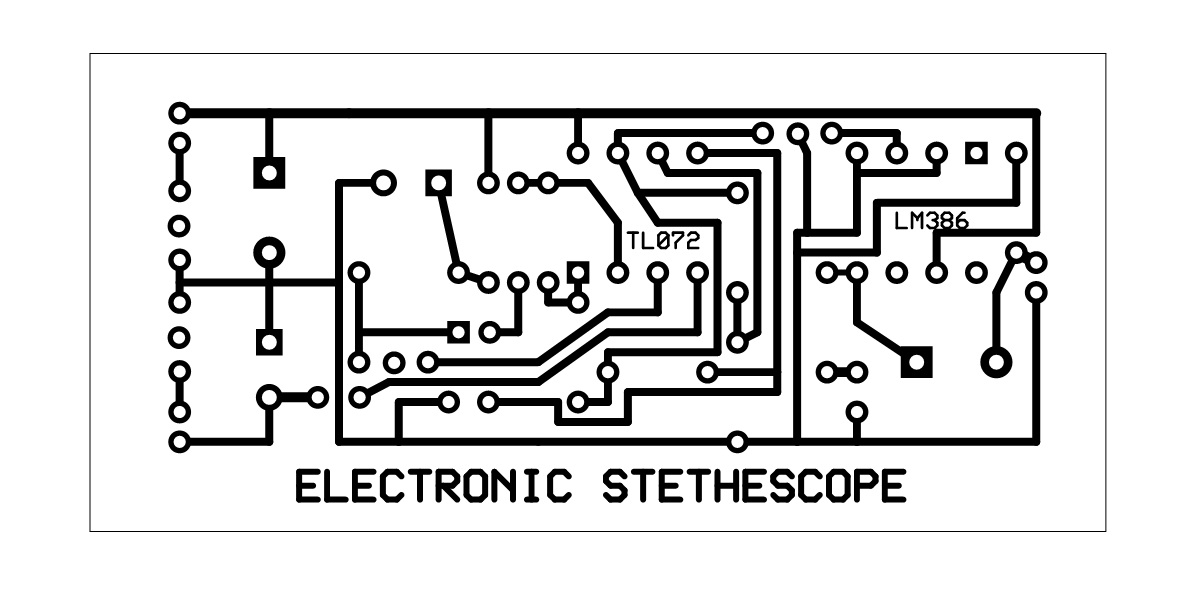 the development of low cost electronic stethoscope   fyp week 8 and 9   pcb etching circuit