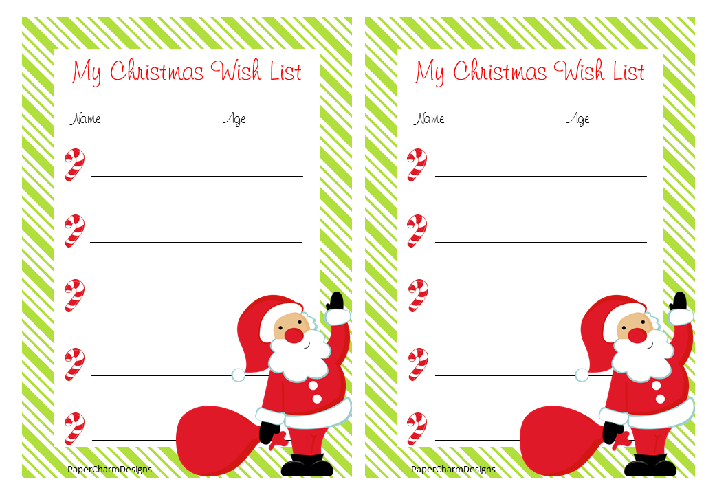 Wish List Paper | New Calendar Template Site