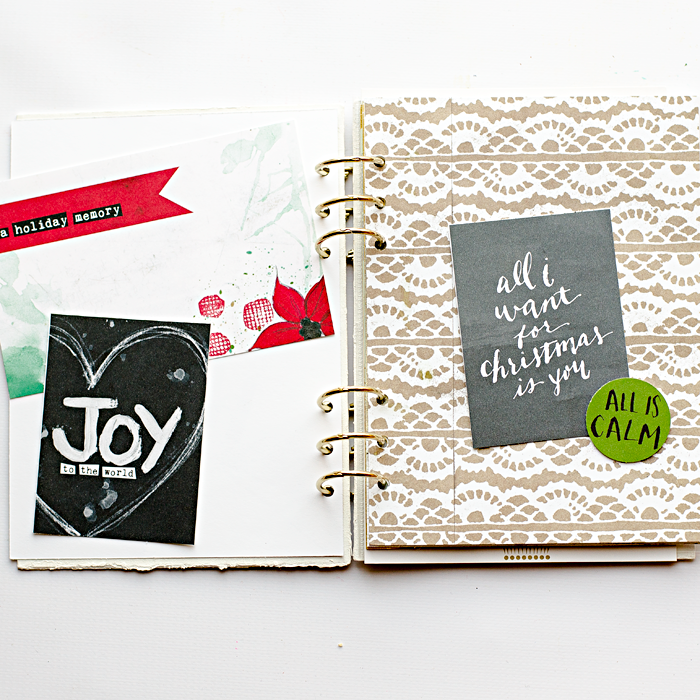 sharing more pages from my December Memories Album using new Document Your December releases from The Lilypad | Silhouette Portrait | hybrid scrapbooking