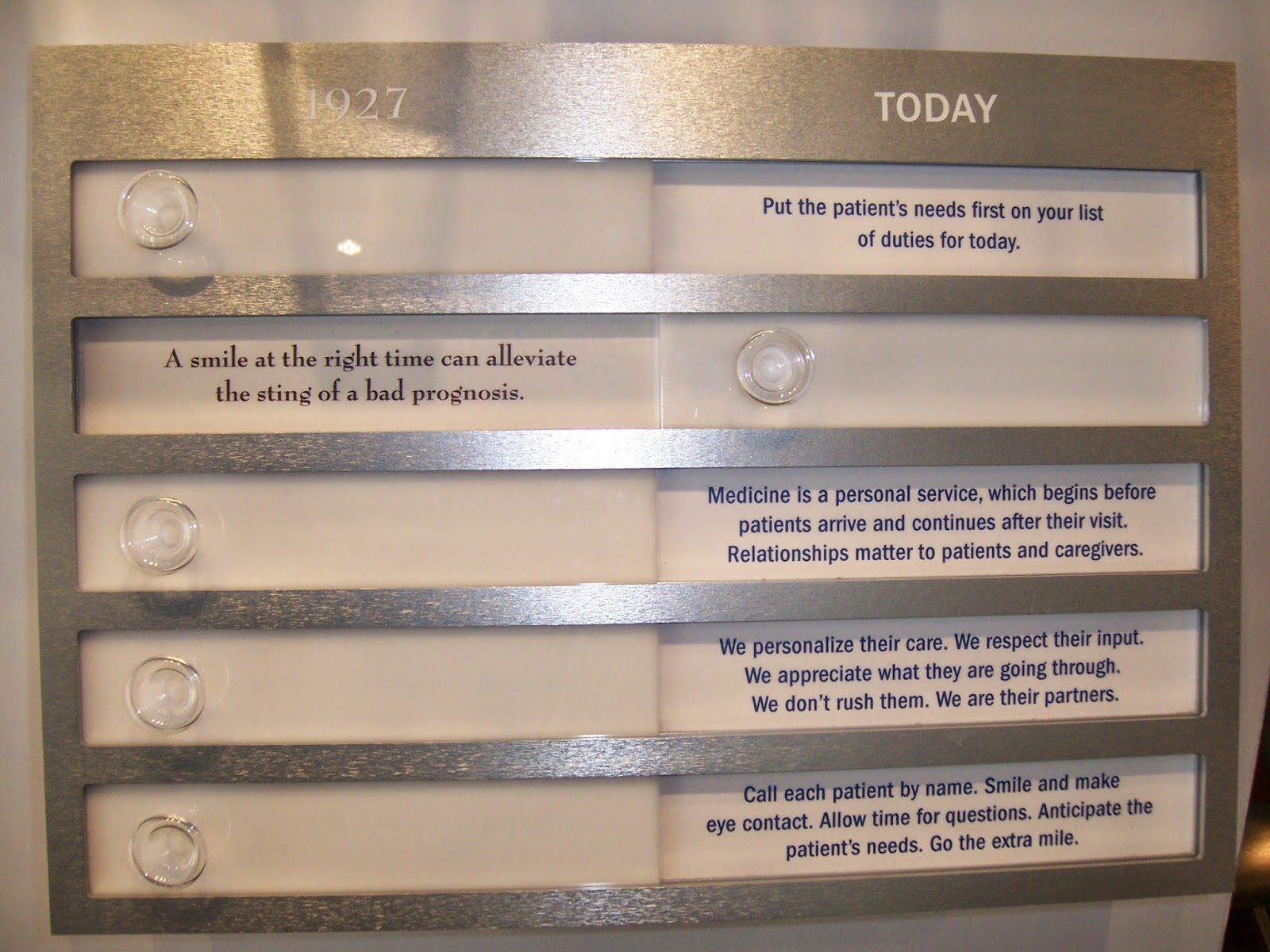 Mayo Clinic interactive museum display