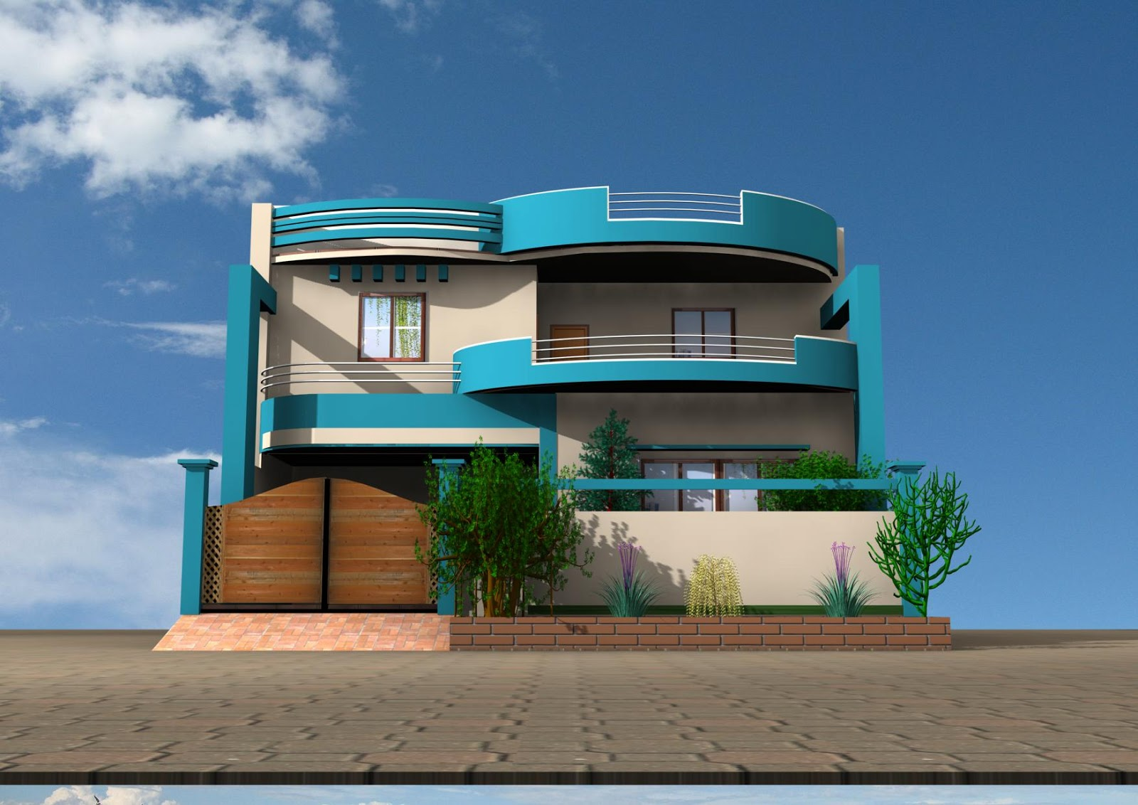 Modern homes latest exterior front designs ideas modern for Modern house front design