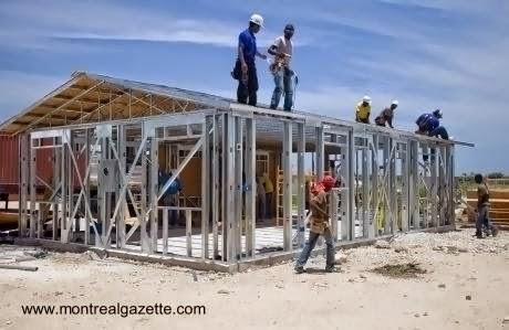 Casa de bajo costo en construcción en Haiti