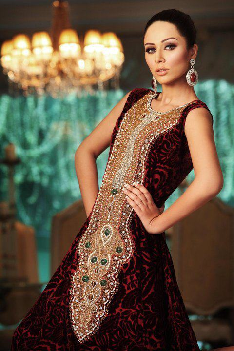 Embroidery dresses fashion collections girls and women wear