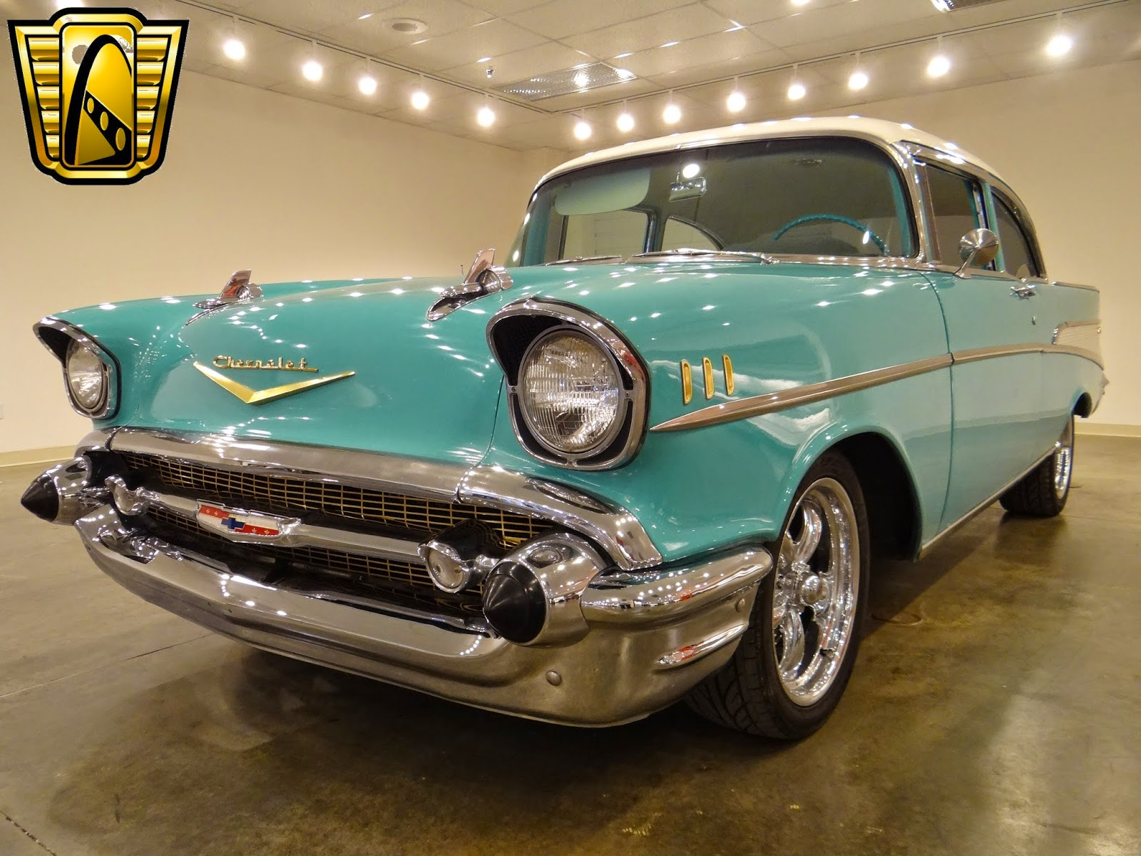 Cars 1957 Chevrolet Bel Air Uni Ads 57 Chevy Rear Bumper The Is Easily One Of Most Recognizable Ever Produced And Loved By All This Painted In A Classic Two Tone Teal White
