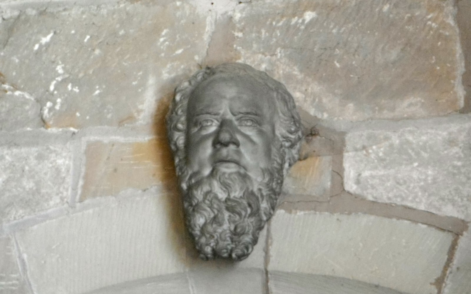 Stone carving in Seighford Church