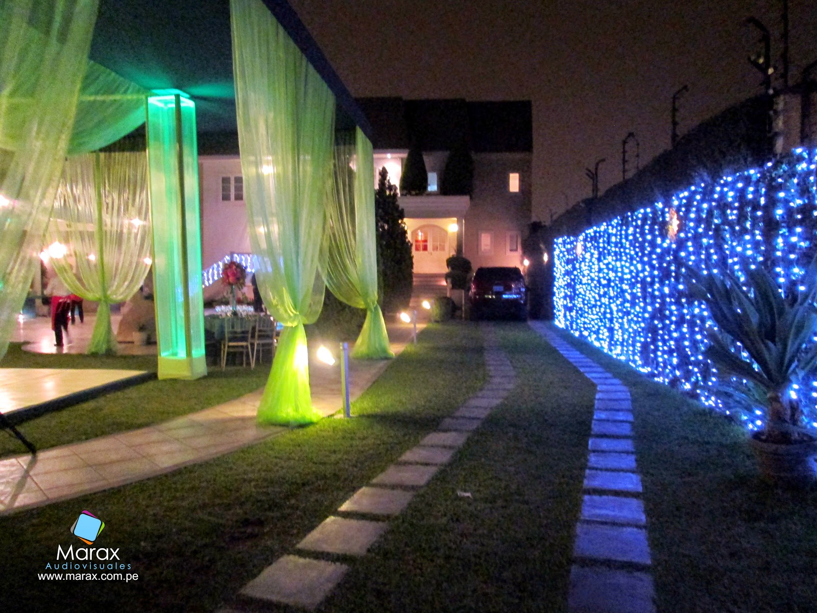 Marax audiovisuales cumplea os en la molina - Luces led jardin ...