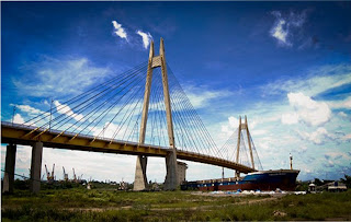 Bridge in Hai Phong - Vietnam del Nord