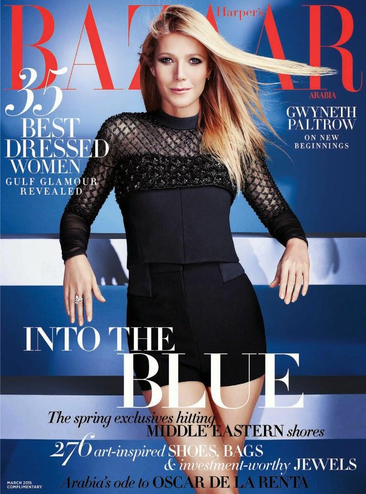 Actress, Singer: Gwyneth Paltrow - Harper's Bazaar Arabia, March 2015