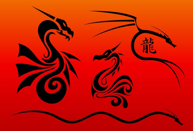 Free Chinese Dragon Vector Art Graphics